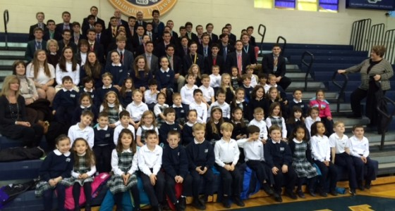 IHM First Grade invited to sing at Salesianum High School at their Epiphany Mass.
