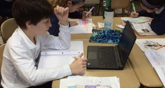 6th grade classes using the Chromebooks