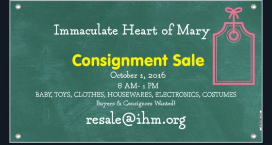 IHM Consignment Sale