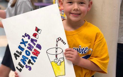 First Grade's outreach was Alex's Lemonade Foundation.