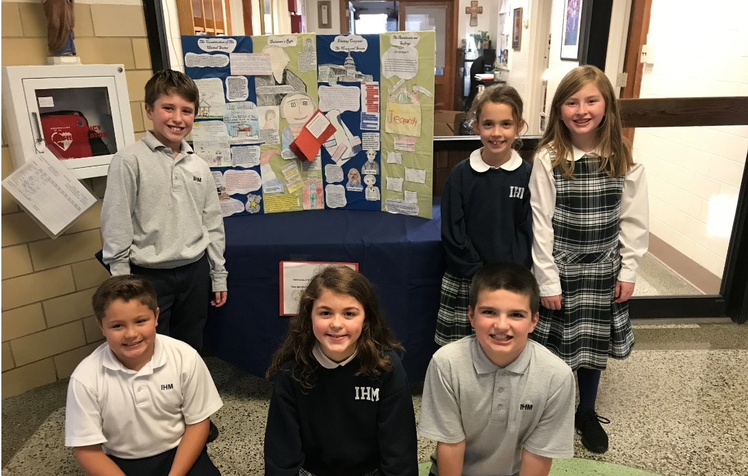 """IHM recently participated in """"The 17th Annual  Delaware Day Fourth Grade competition"""""""