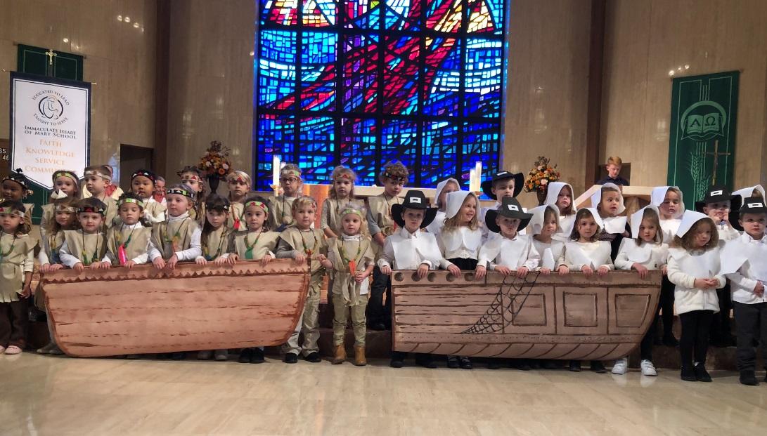 Thanksgiving School Mass on 11/20/18