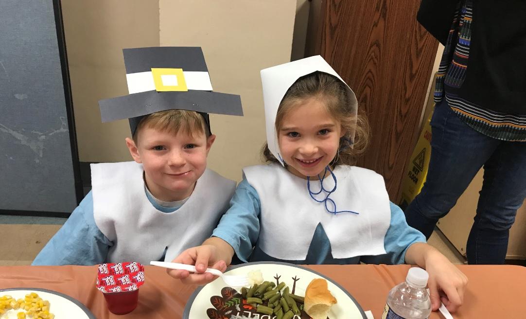 Kindergarten class celebrated Thanksgiving