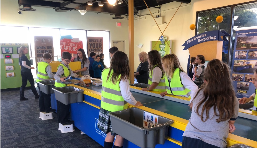 IHM Third Grade visits Delaware Solid Waste to see how recyclables are processed