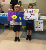1st grade raises money for Alex's Lemonade Foundation