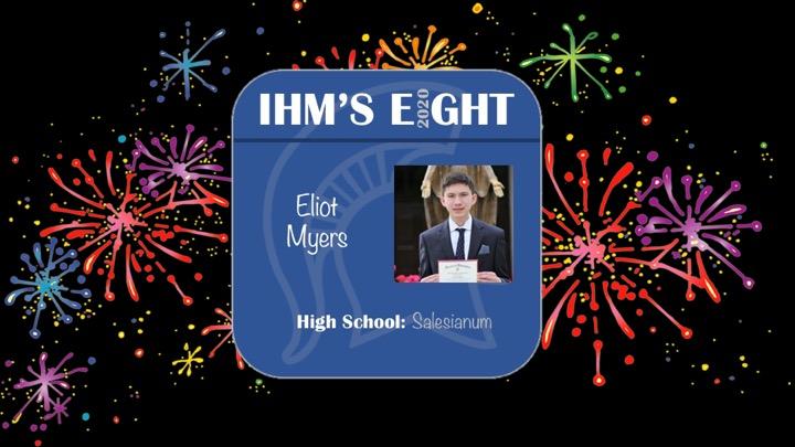 Congratulations!!  Eliot Myers